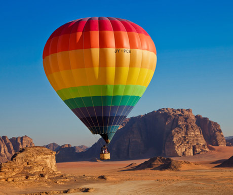 Hot atmosphere balloon Jordan