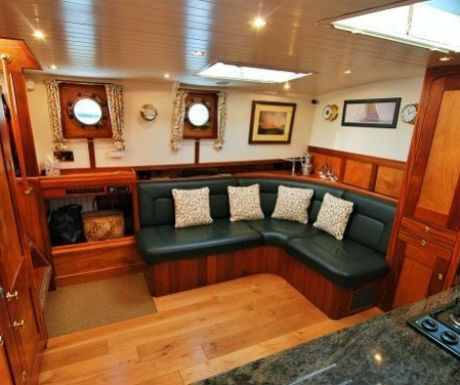 The Randle boat journey interior