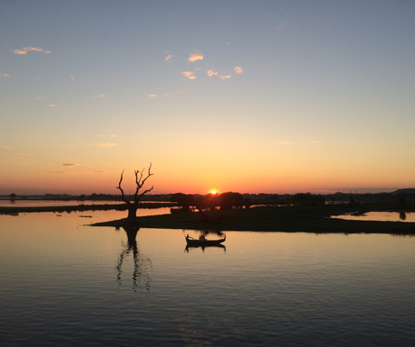 View-from-the-U-Bein-Bridge-at-sunrise