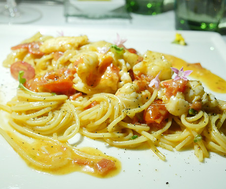 Lobster and spaghetti