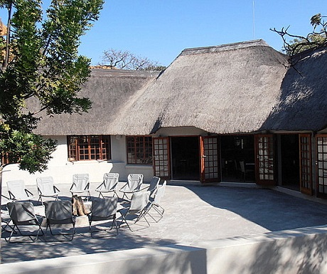 Lounge and boma entertainment places during Monate Game Lodge