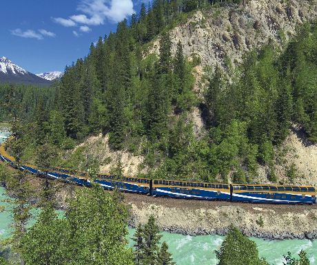 Rocky Mountaineer in a Kicking Horse Canyon