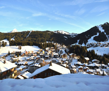Les Gets Village French Alps - chalet stays