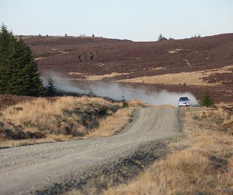 Gravel highway by Kielder