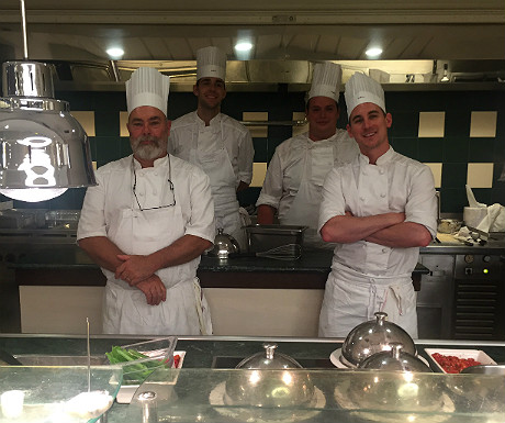 Brittany Ferries grill chefs