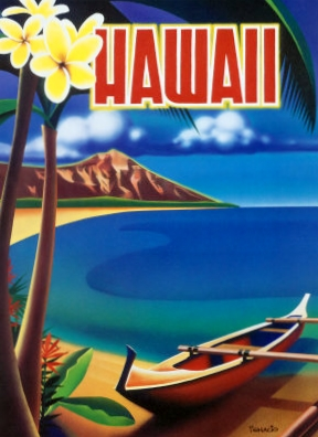 Old Hawaii Poster