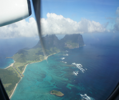 Arrival into Lord Howe and perspective of coral reef