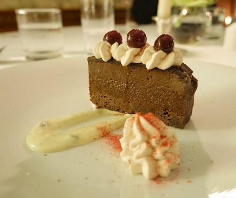 Chocolate dessert during Goldsborough Hall