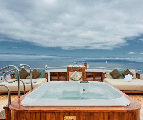 Galapagos tour Sea Star tour Jacuzzi deck