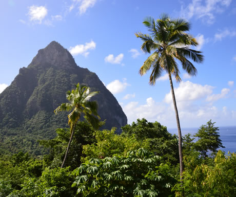 Saint Lucia in a Caribbean