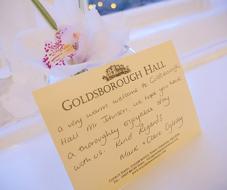 Welcome during Goldsborough Hall