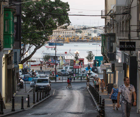 Sliema Shopping Street