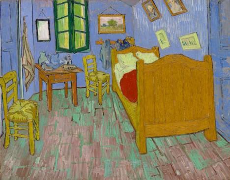 van gogh strange yellow bedroom