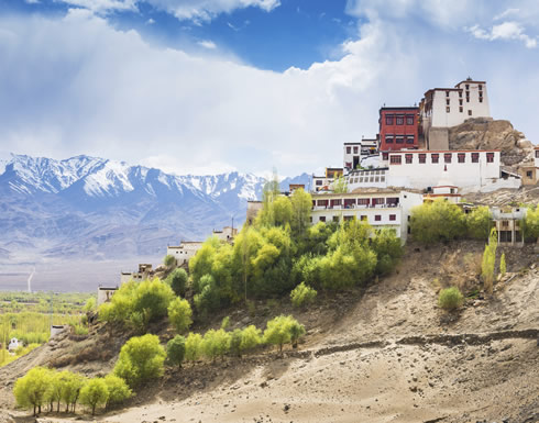 Thiksey Monastery usually outward a captital of Ladakh, Leh, northern India