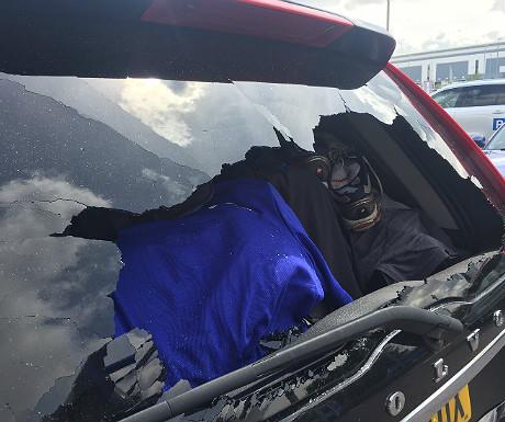 Broken behind windscreen on Volvo XC90
