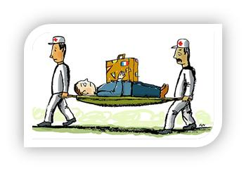 travel medical cartoon
