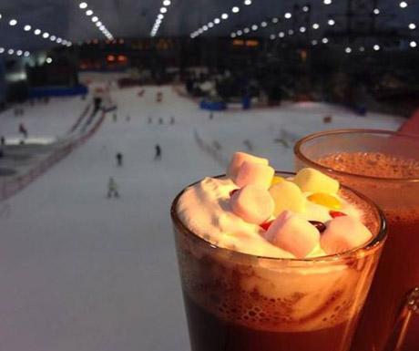 Hot Chocolate during Ski Dubai