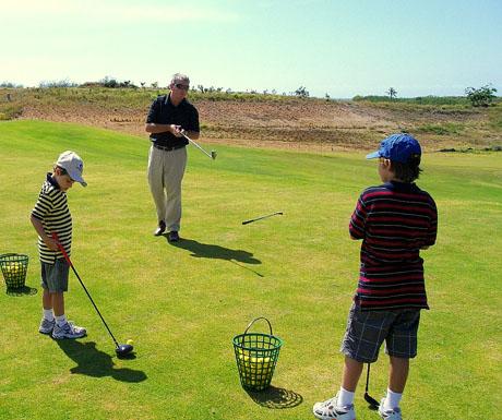 Intercontinental Golf  Spa Resort Fiji - golfing kids