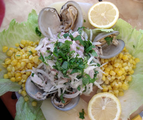 Ceviche is a standard fish dish