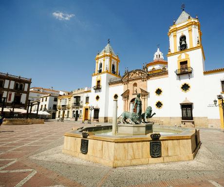 Ronda Plaza de Socorro church