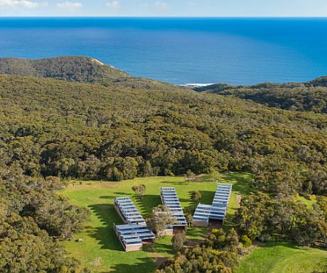 Alkina Lodge aerial view