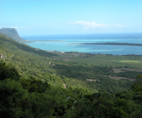The southwest seashore of Mauritius