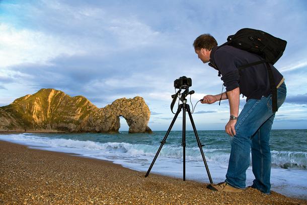 Photographer Using Tripod