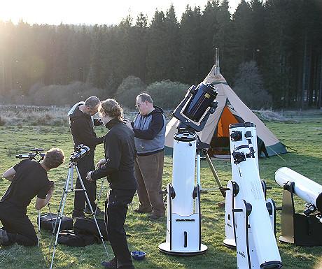 Setting adult a telescopes