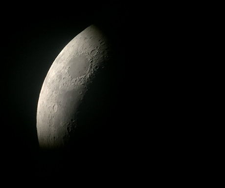 The moon with an iPhone