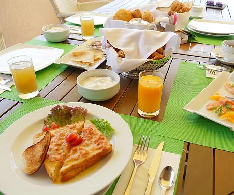 Elounda Villa breakfast