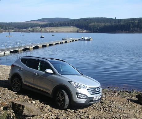 Hyundai Santa Fe during Kielder Water