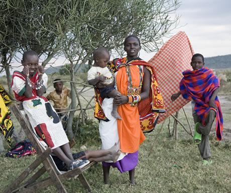 Locals during Borgani Camp
