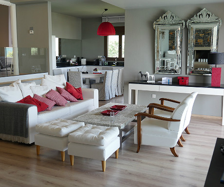 Elounda Villa vital space and kitchen