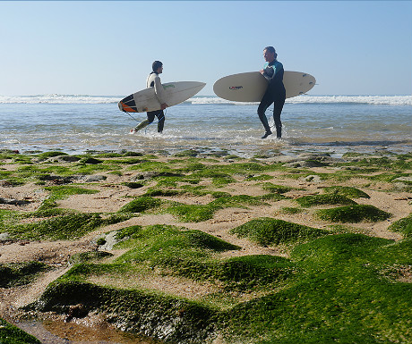 Surfers during Ribeira dIlhas