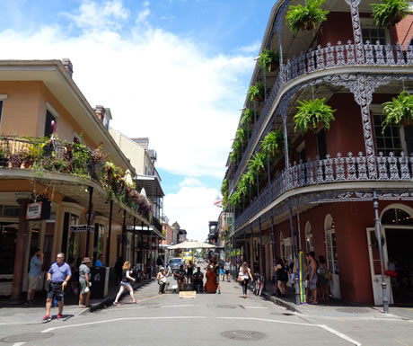 French Quater of New Orleans in a USA
