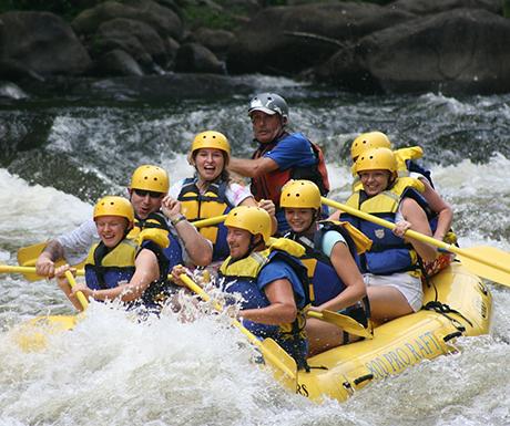 White H2O rafting