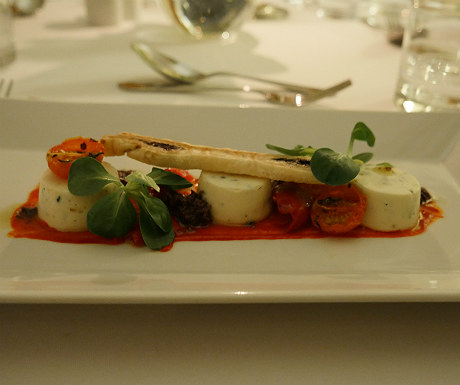 Goats cheese mousse during Goldsborough Hall