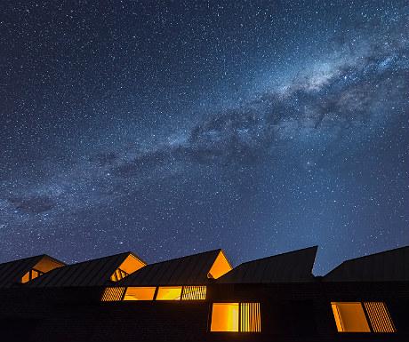 Alkina Lodge during night