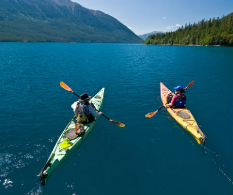 Chilko Experience kayaking