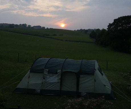Skandika tent sunset