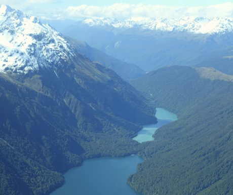 Flight to Milford Sound New Zealand