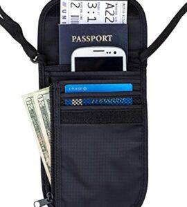Travel-Navigator-Neck-Wallet-and-Passport-Holder-with-RFID-Blocking-Black-0