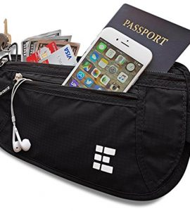 Zero-Grid-Money-Belt-wRFID-Blocking-Concealed-Travel-Wallet-Passport-Holder-0