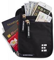 Zero-Grid-Neck-Wallet-wRFID-Blocking-Concealed-Travel-Pouch-Passport-Holder-0